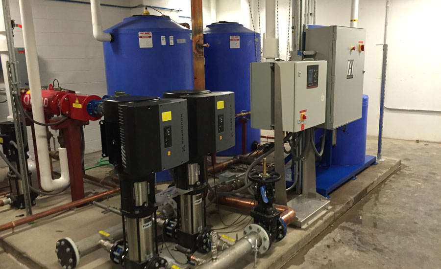 The Aquanomix packaged rainwater reuse system provides a customizable, pre-engineered solution that includes the necessary mechanical equipment, sensors, water treatment, and controls to make rainwater fit for reuse
