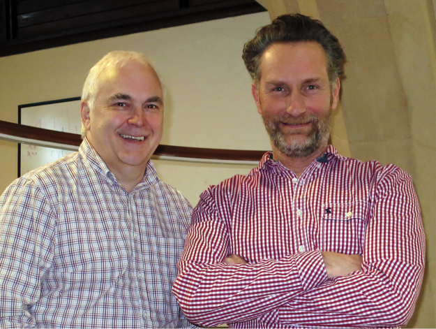 Mike Willis, MD of IMI Europe Ltd (left) and Frazer Chesterman, Director, FM Brooks