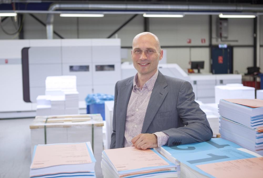 Sander Jansen with the game-changing cut sheet inkjet press