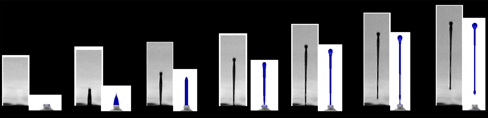 Figure           SEQ Figure \* ARABIC      2. Droplet actuation. Experimental work of Wijshoff [2] and our simulation results. In the lower left the pressure pulse for actuation is shown.