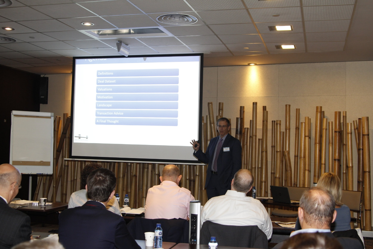 Ken Stack introducing the M&A forum and setting the scene