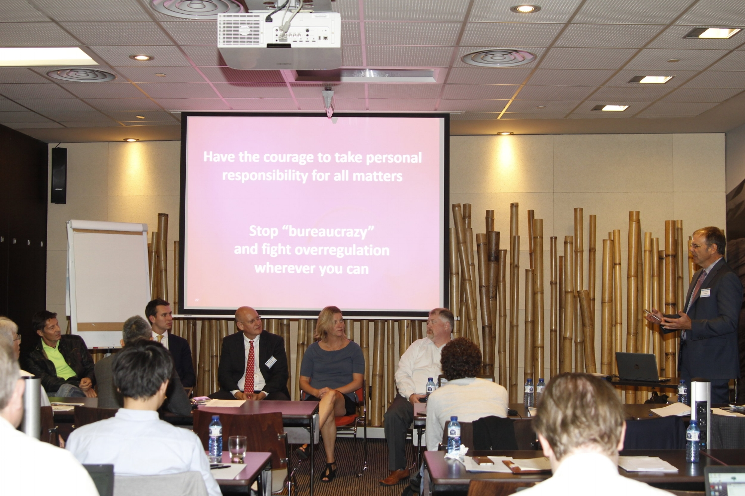 A lively and informative panel session