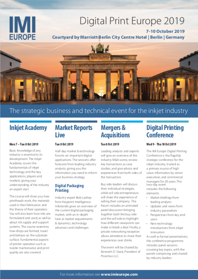 Download the Digital Print Europe 2019 brochure