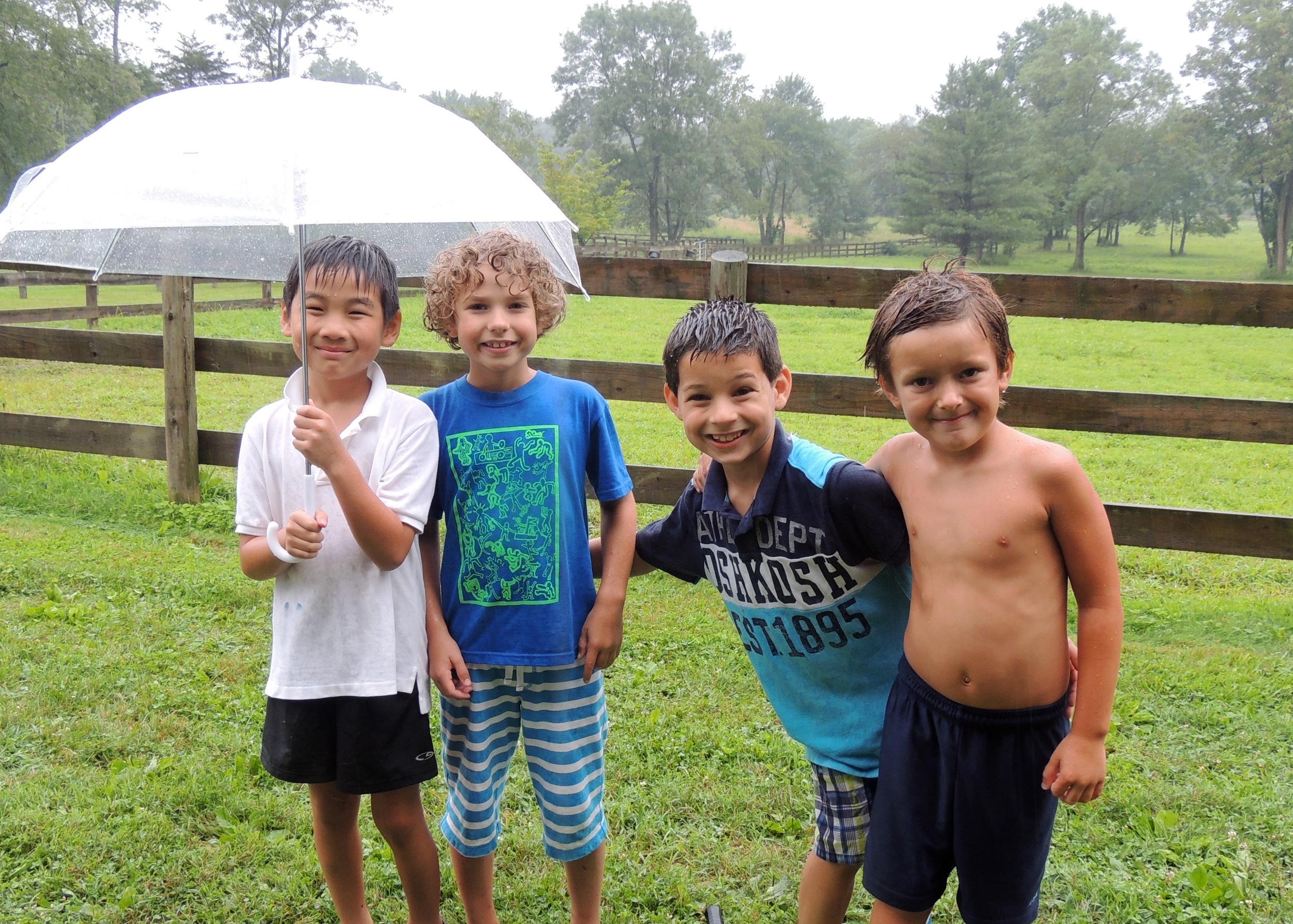 Rainy days are fun!