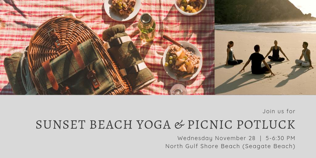 Beach Yoga Naples Florida Picnic Potluck
