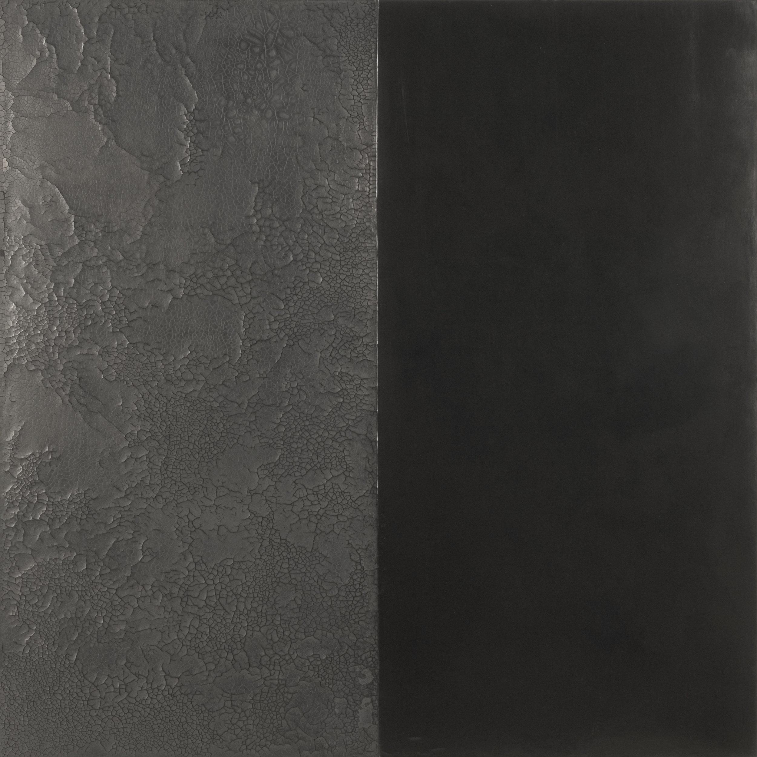 Divided Ground 2006  Wax, natural earth pigment &gesso on canvas & board  91.5 x 91.5 x 4 cm
