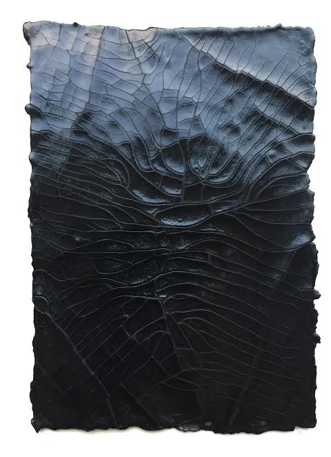 Susan Gunn, Gesso Study I, Beeswax, lamp black pigment & gesso on cold pressed recycled paper, 15 x 11 cm, 2014.jpg