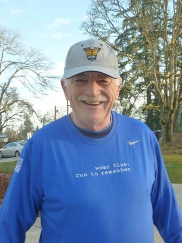Mike Brown at a Saturday Run in DuPont, Washington. Photo Courtesy of Nancy Bamford.