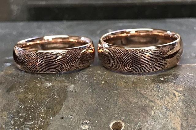 Wedding Rings - Fingerprint wedding ringsFitted wedding bandsDiamond set wedding ringsAny style you wish.