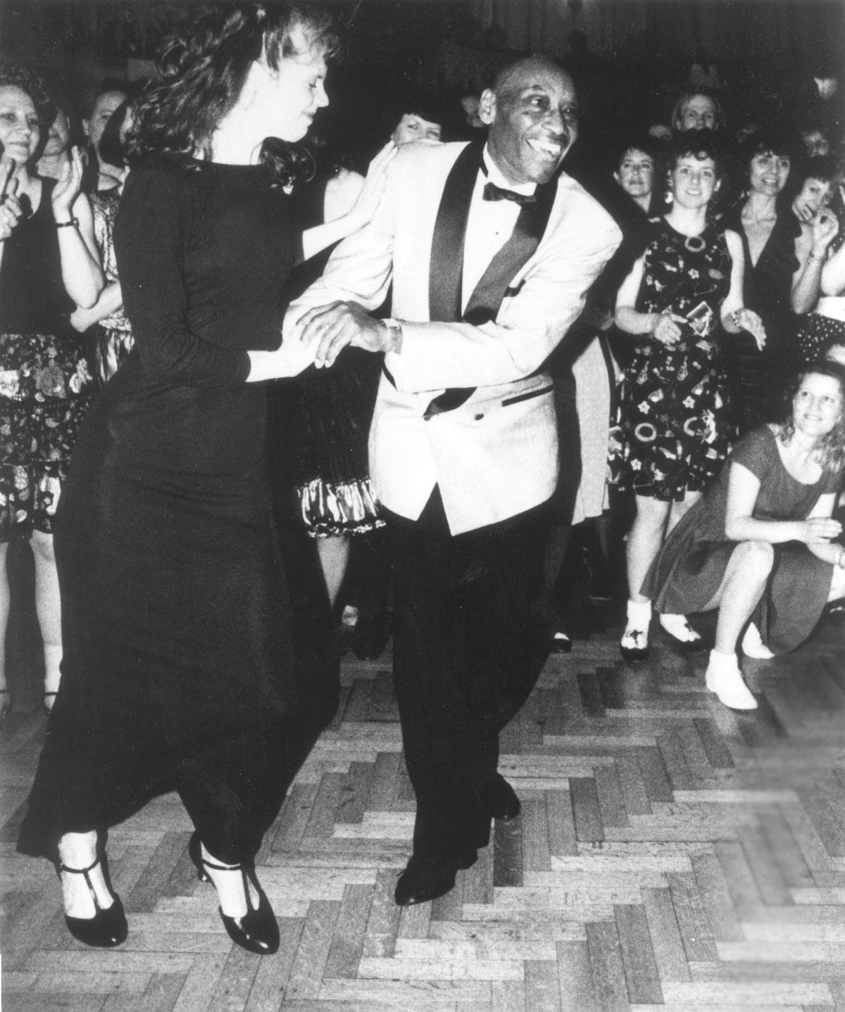 Frankie Manning and Cynthia Millman dancing