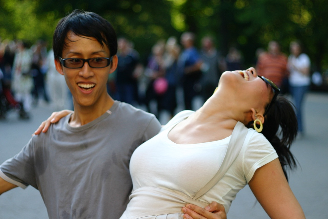 Voon and Veronica at Central Park Swings, 2008