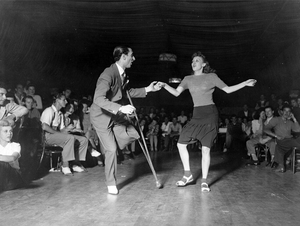 Jimmy Valentine with an unknown dancer.