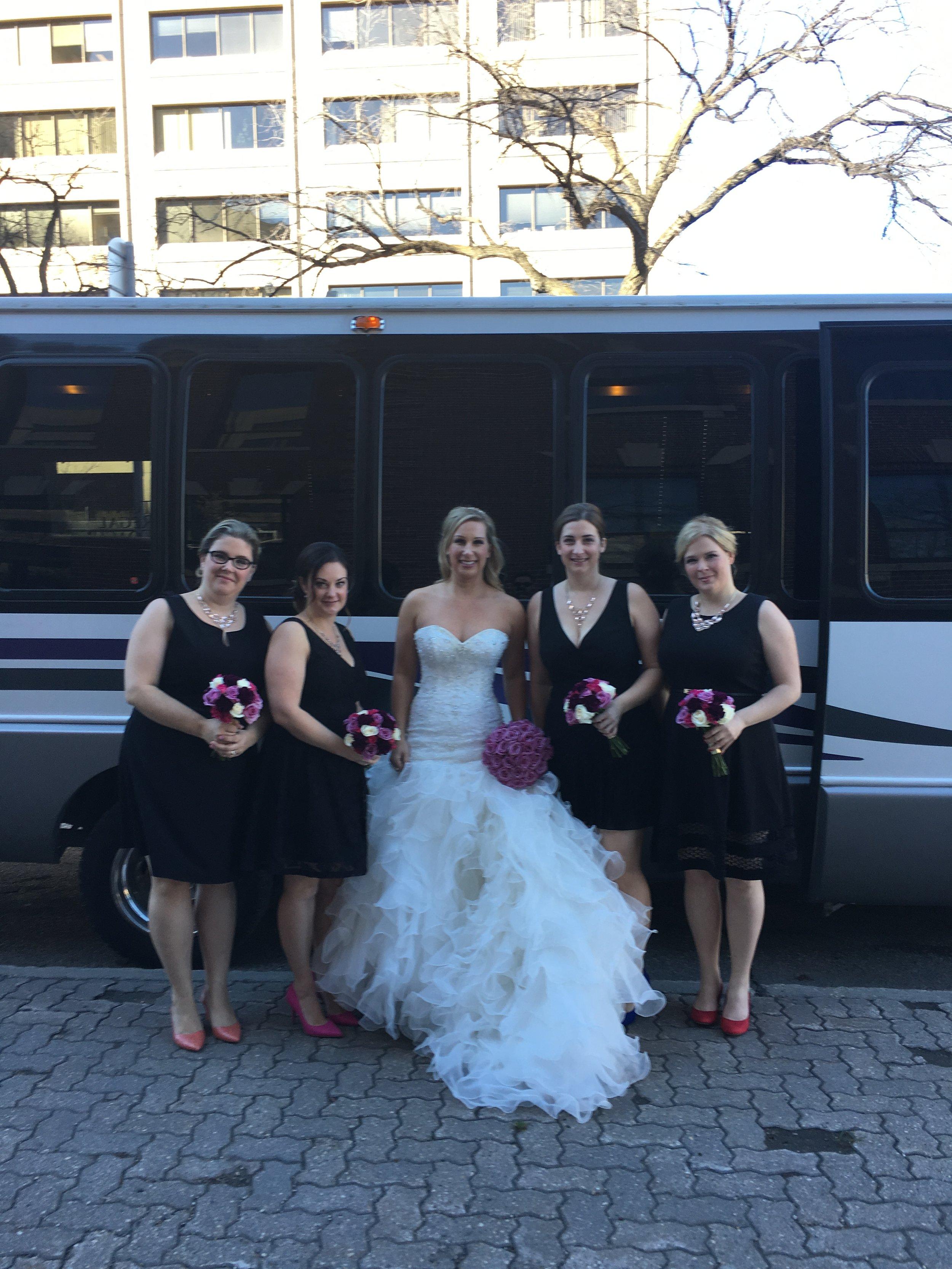 Karen and bridesmaids
