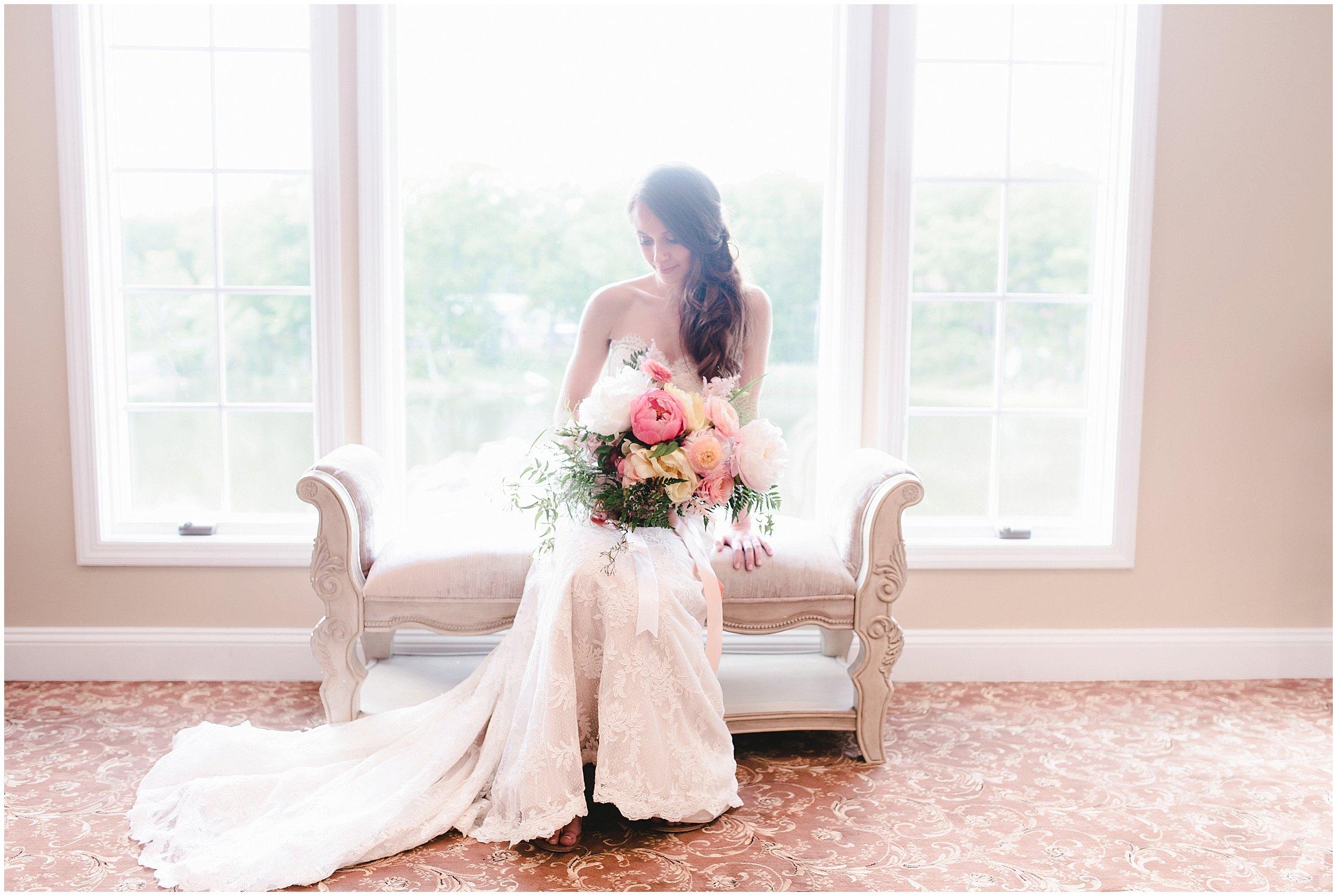 bridal portraits at Rock Island Lake Club wedding pictures