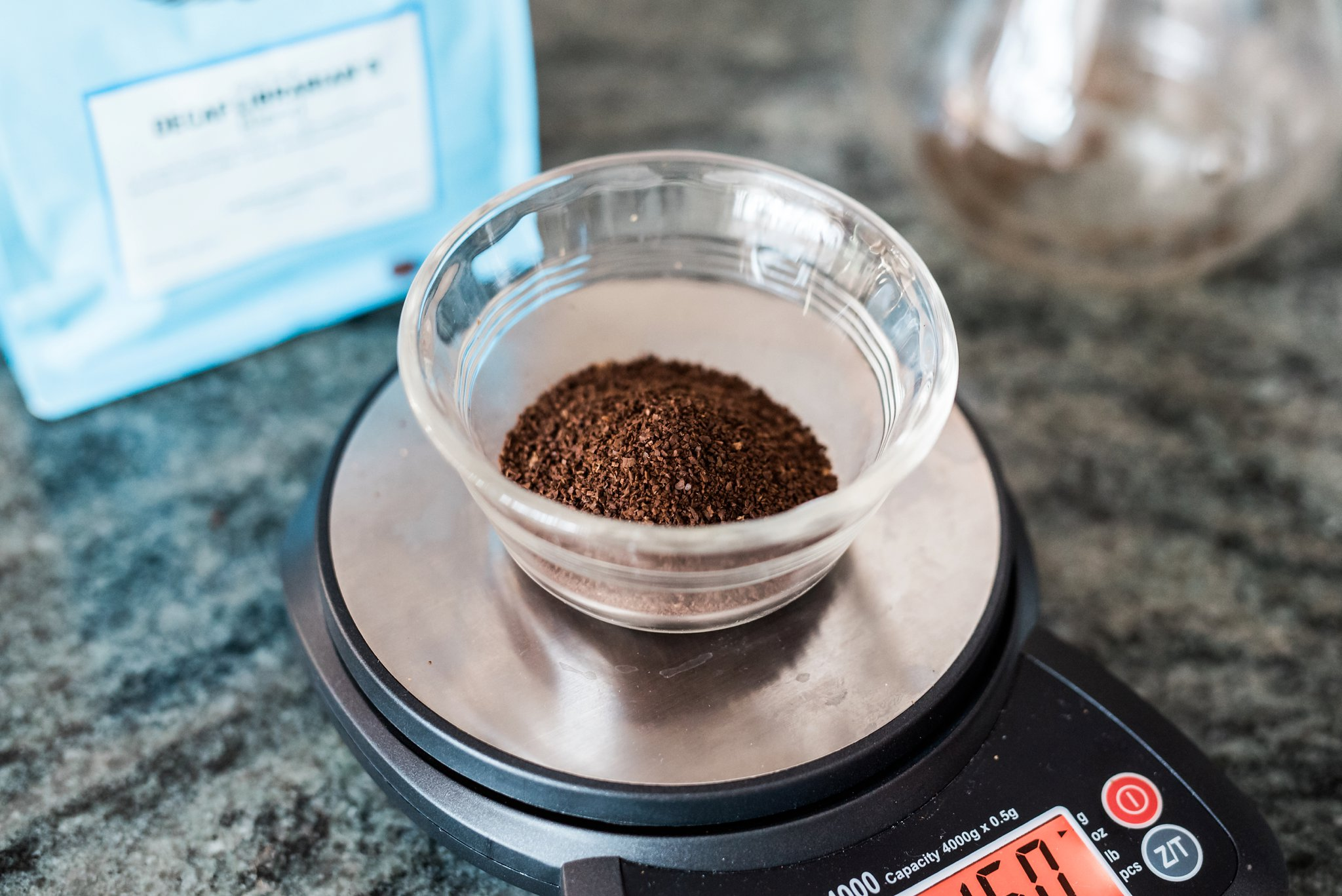 Once the beans are ground, you then will place the coffee in the filter and take the boiled water and pour slowly over the grounds. After the correct amount of water is poured it is complete and ready to enjoy.