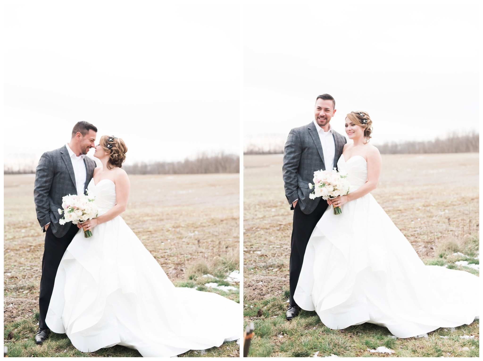 bride and groom with beautiful wedding gown at ashford estate allentown new jersey