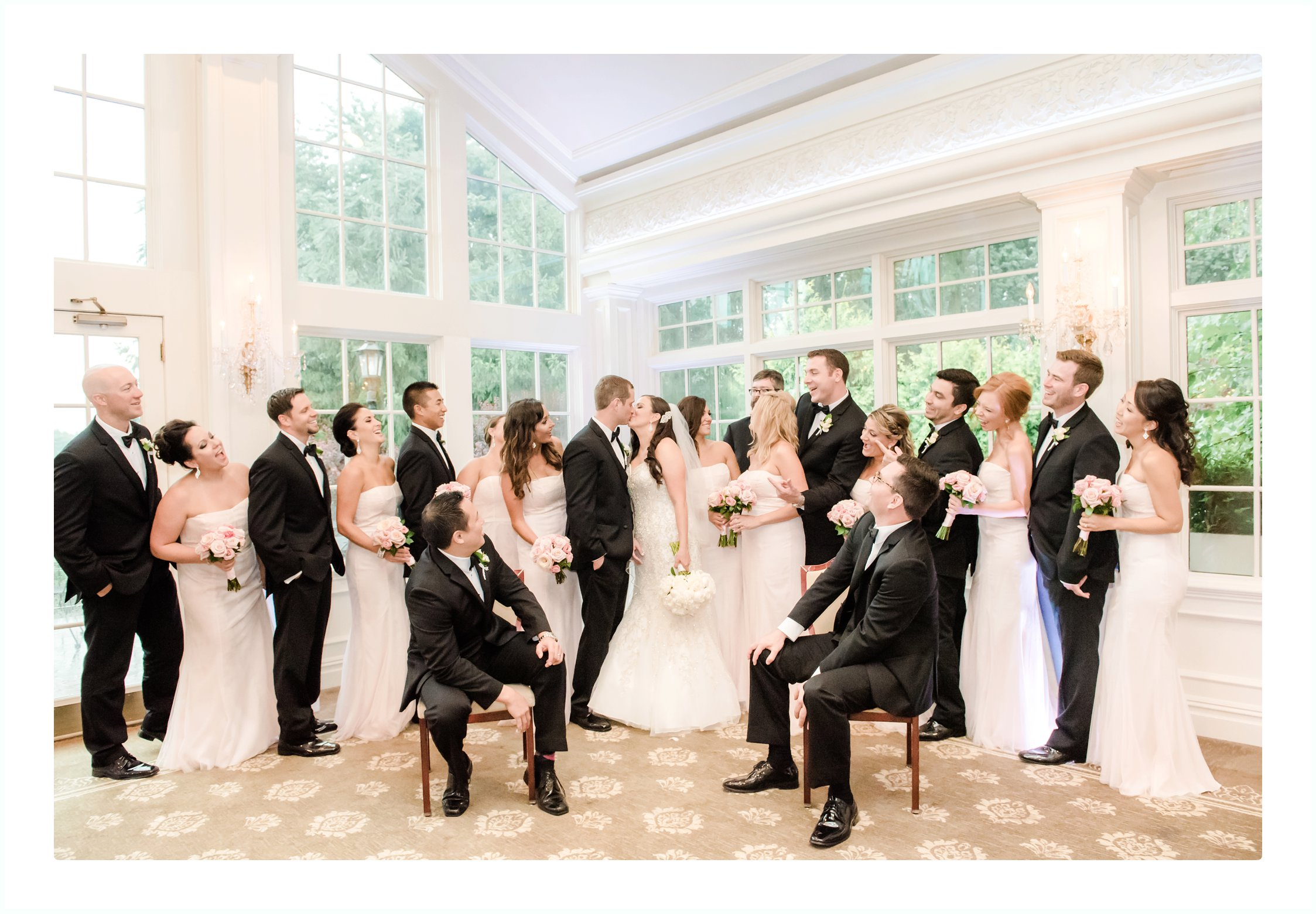 Bridal party at the Park Savoy New Jersey Wedding