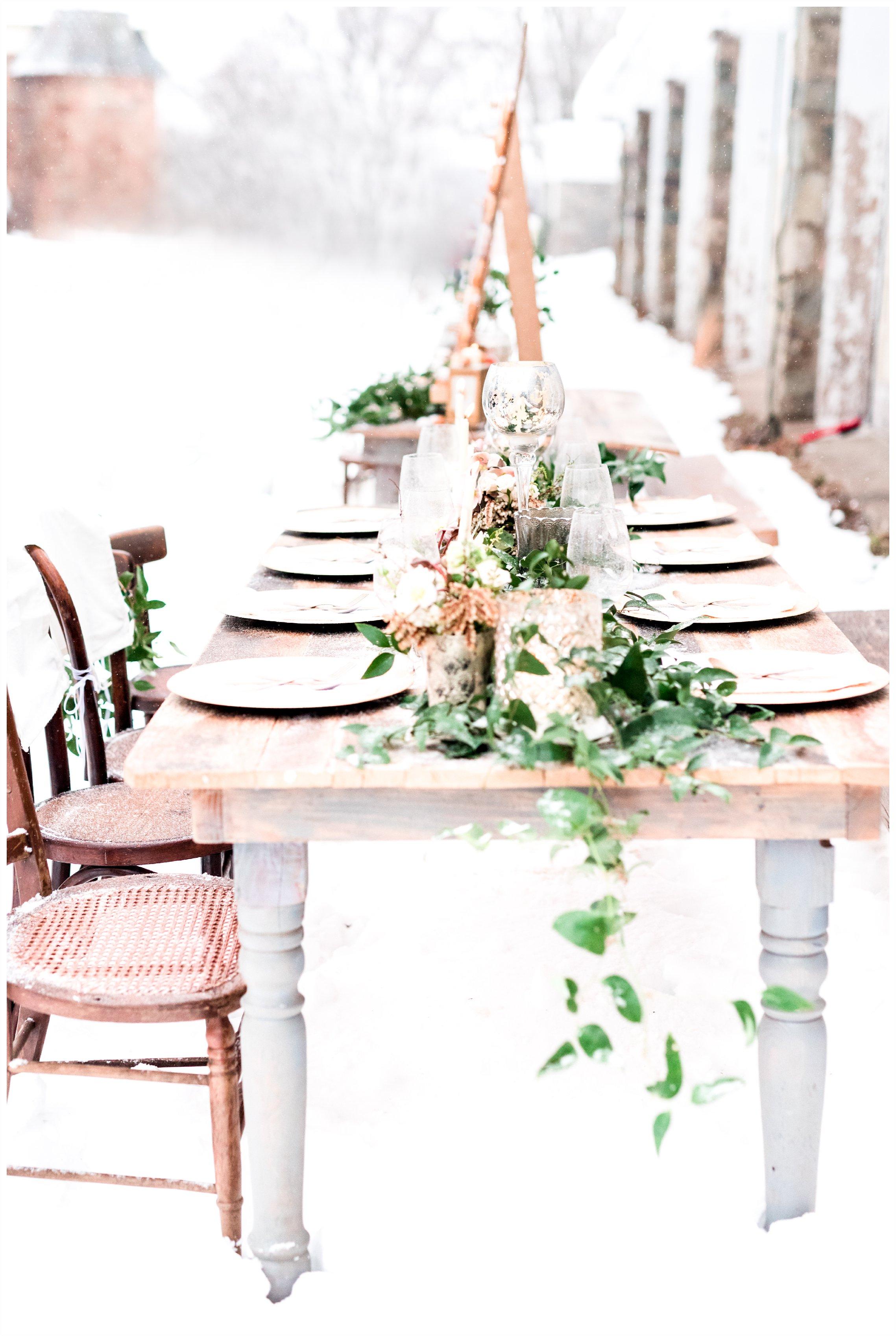 beautiful barn style wedding scape