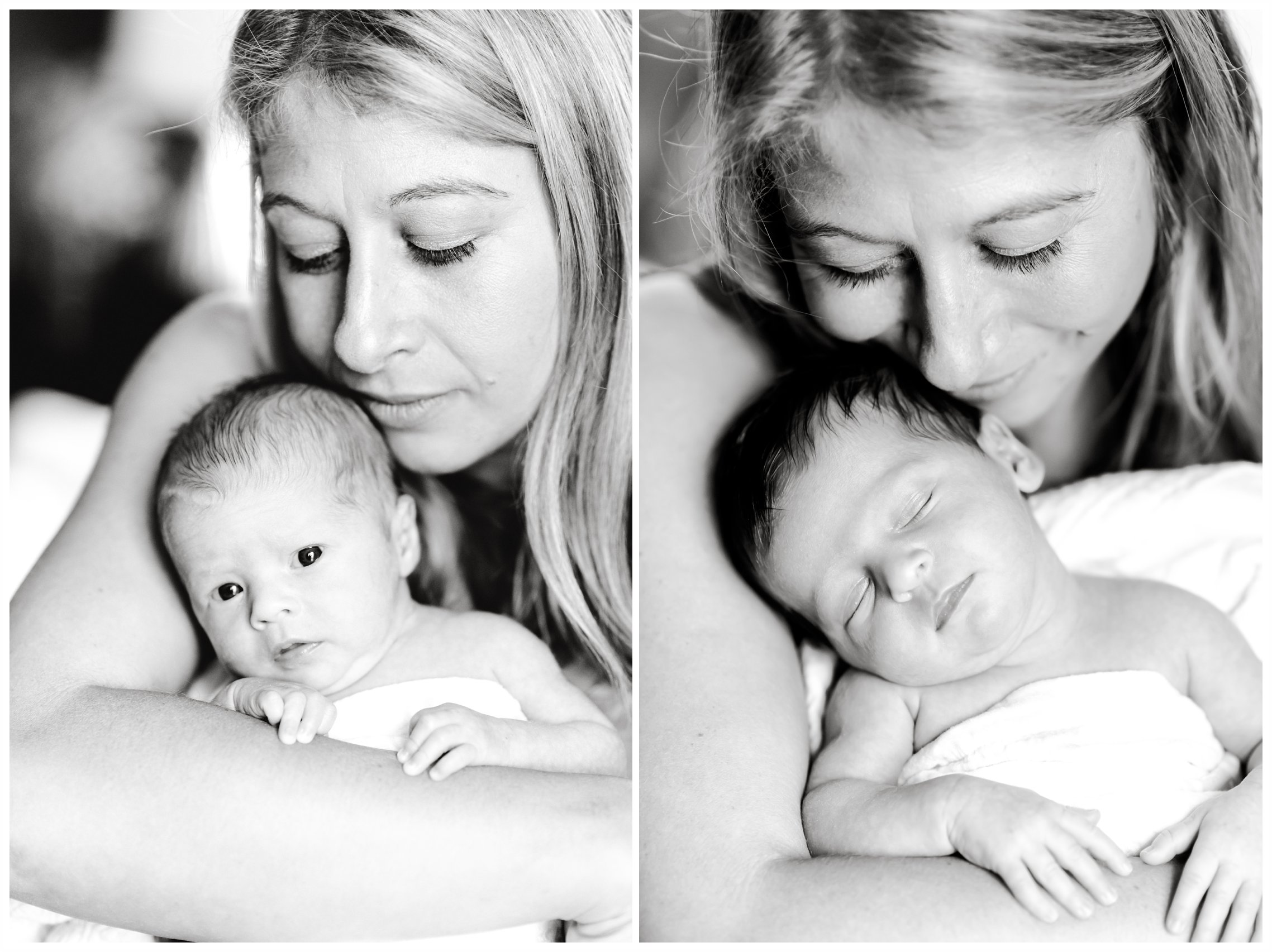 mother with twins newborn photography