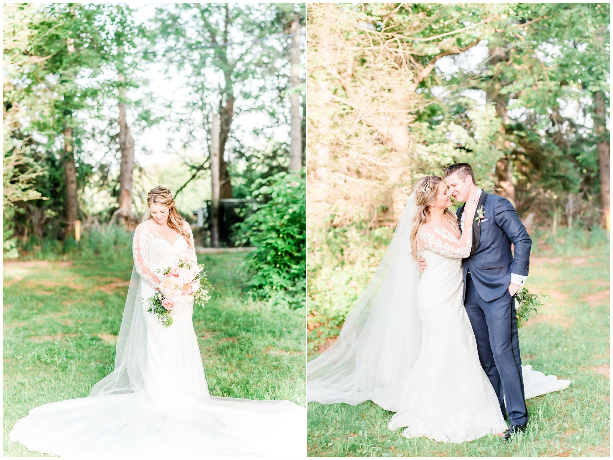 bride and groom portraits at the ryland inn, whitehouse station nj