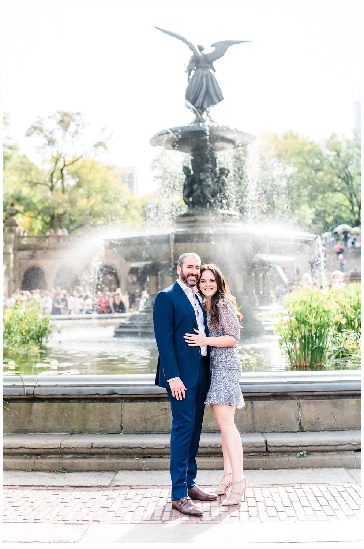 couple at bethesda fountain