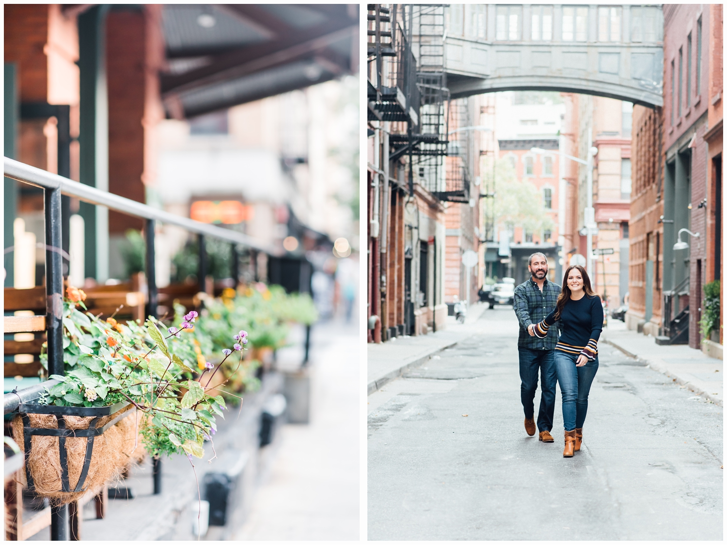pretty engagement session in tribeca
