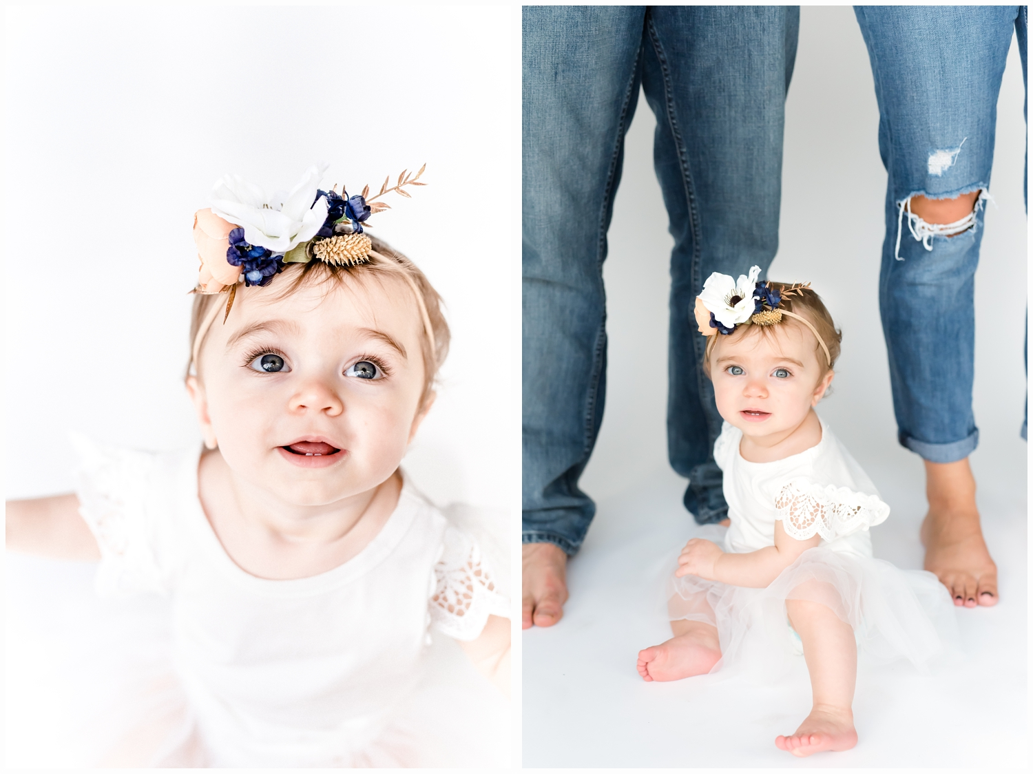 six month old girl photo shoot