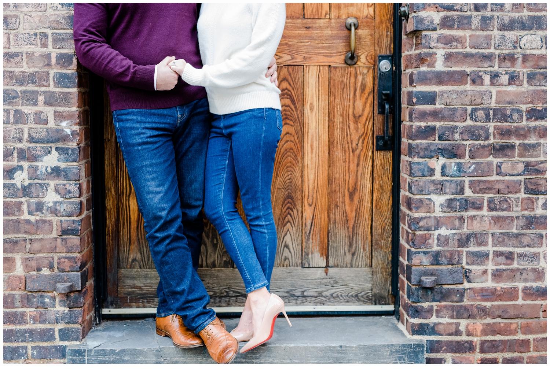 engaged couple at university place