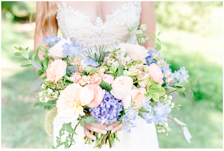 bride and bridal bouquet