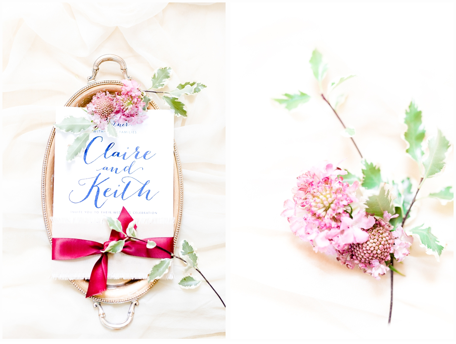 details of invitations on wedding day