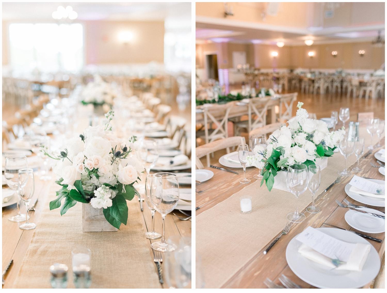 wedding venue tablescape
