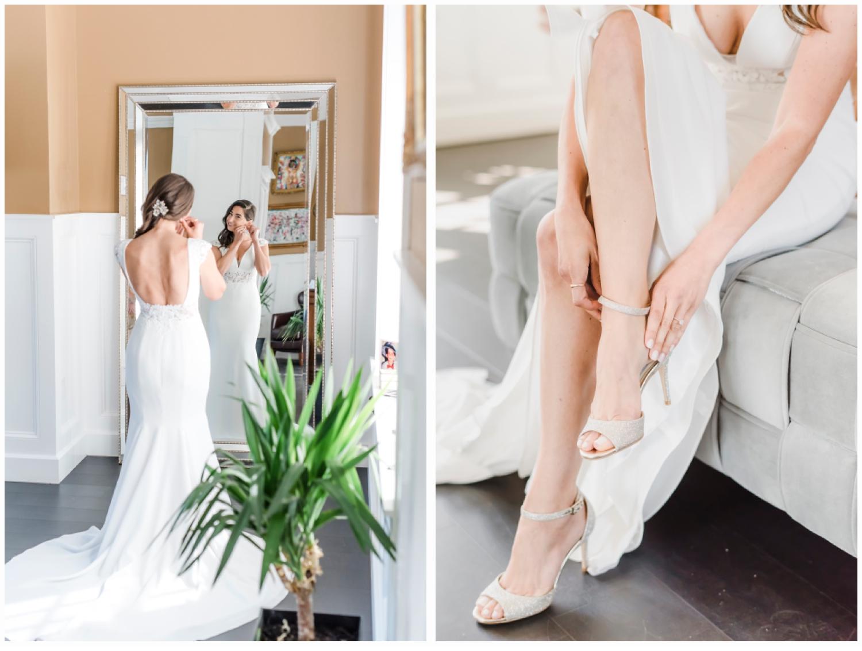 bride in wedding gown