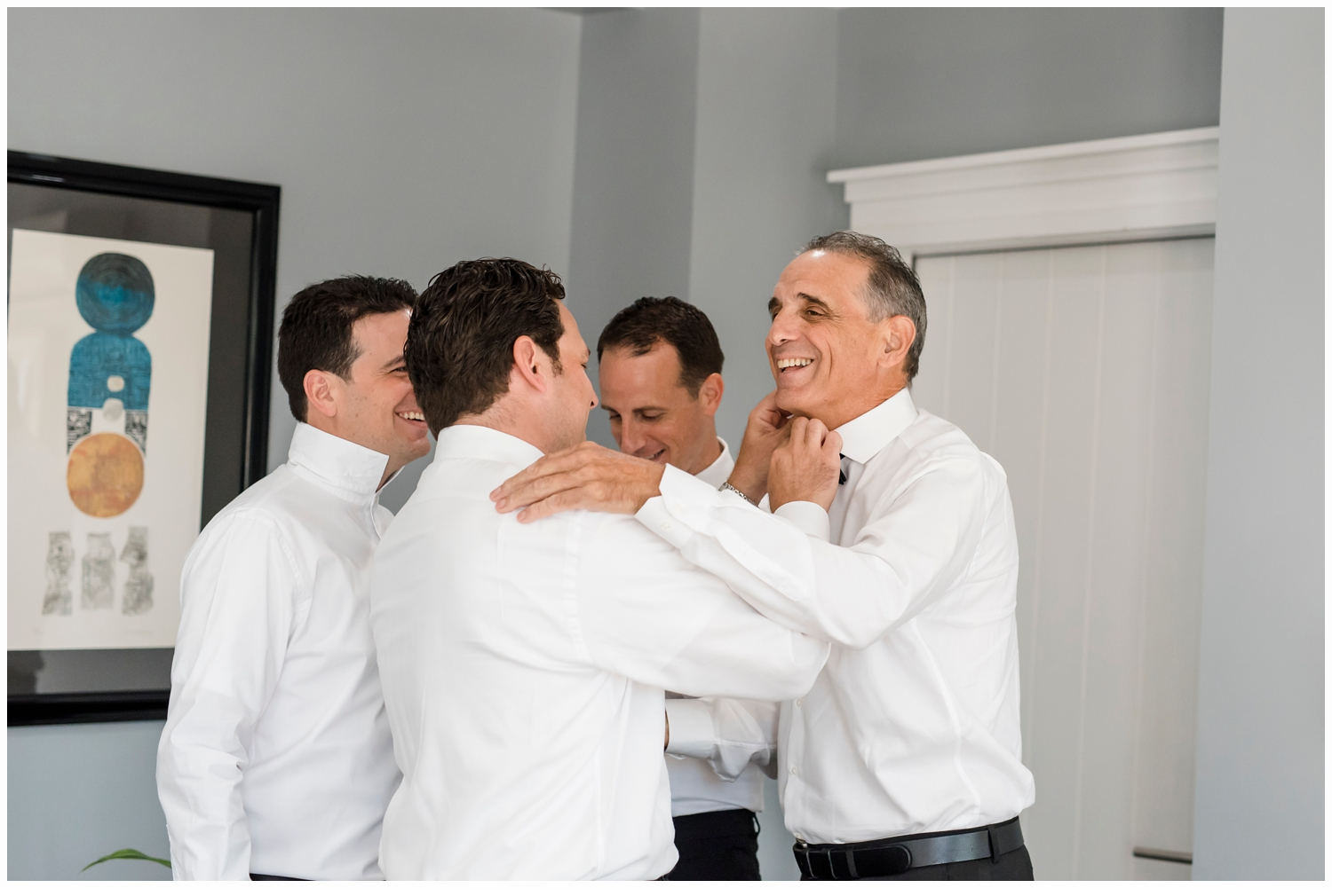 father and sons on wedding day
