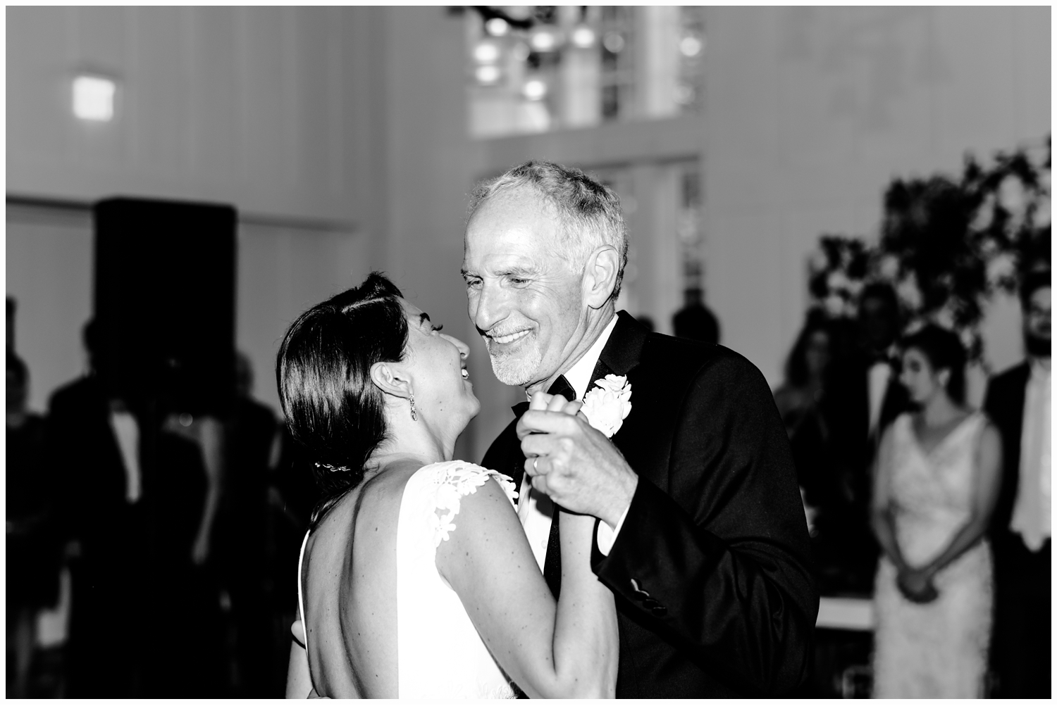 bride and father wedding first dance
