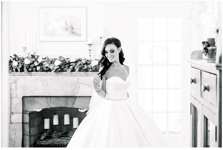 bride portrait in wedding gown