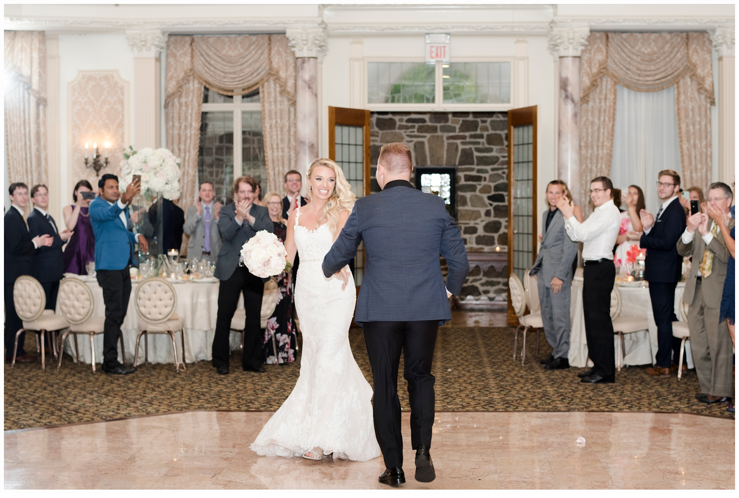 bride and groom first dance at wedding