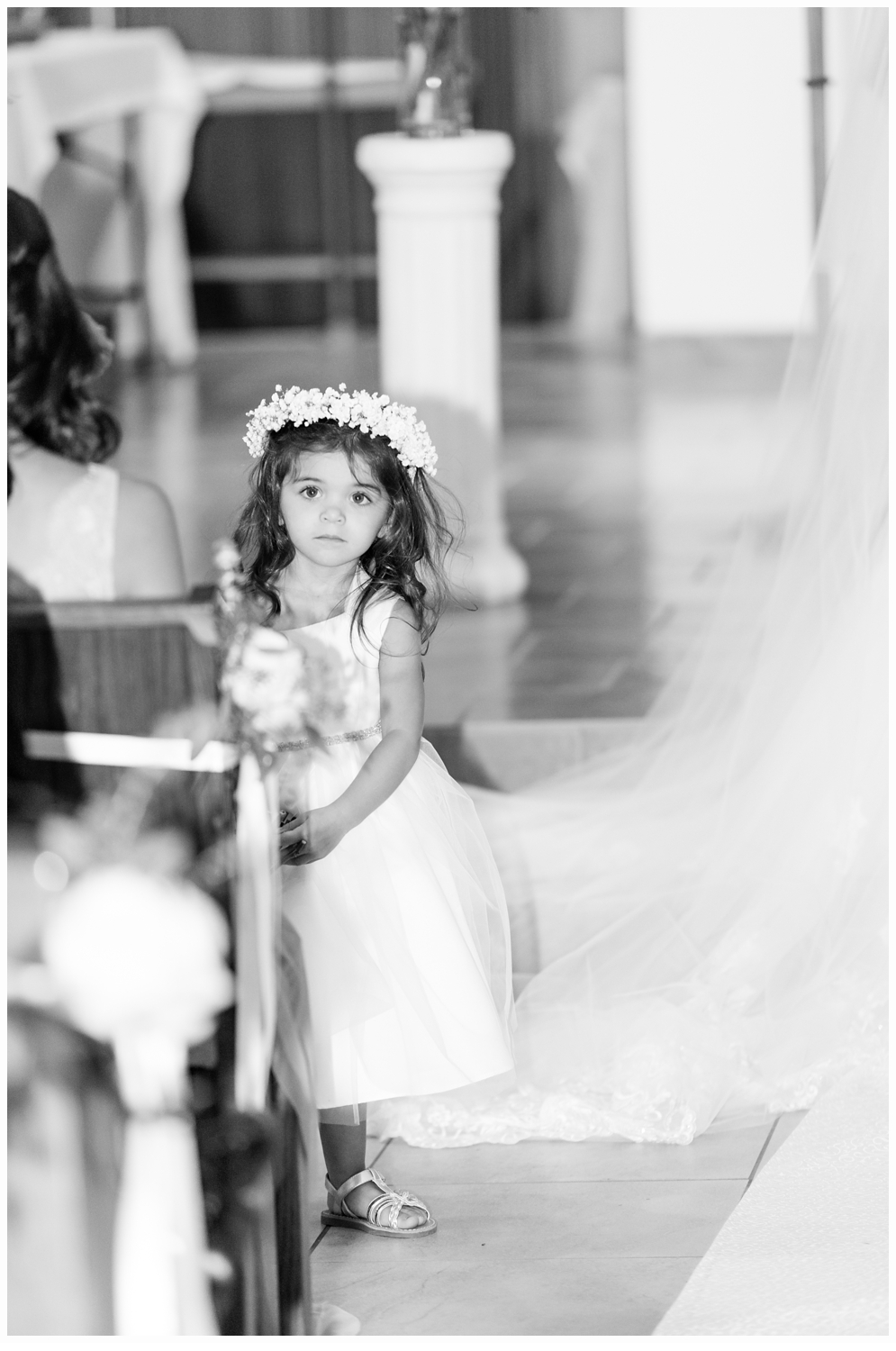 flower girl in church