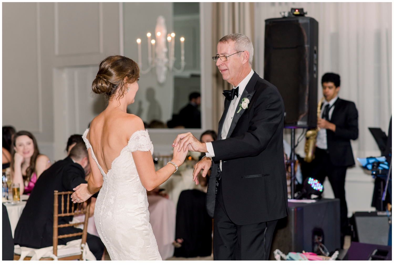 bride and dad dancing at spring lake bath and tennis club spring lake nj