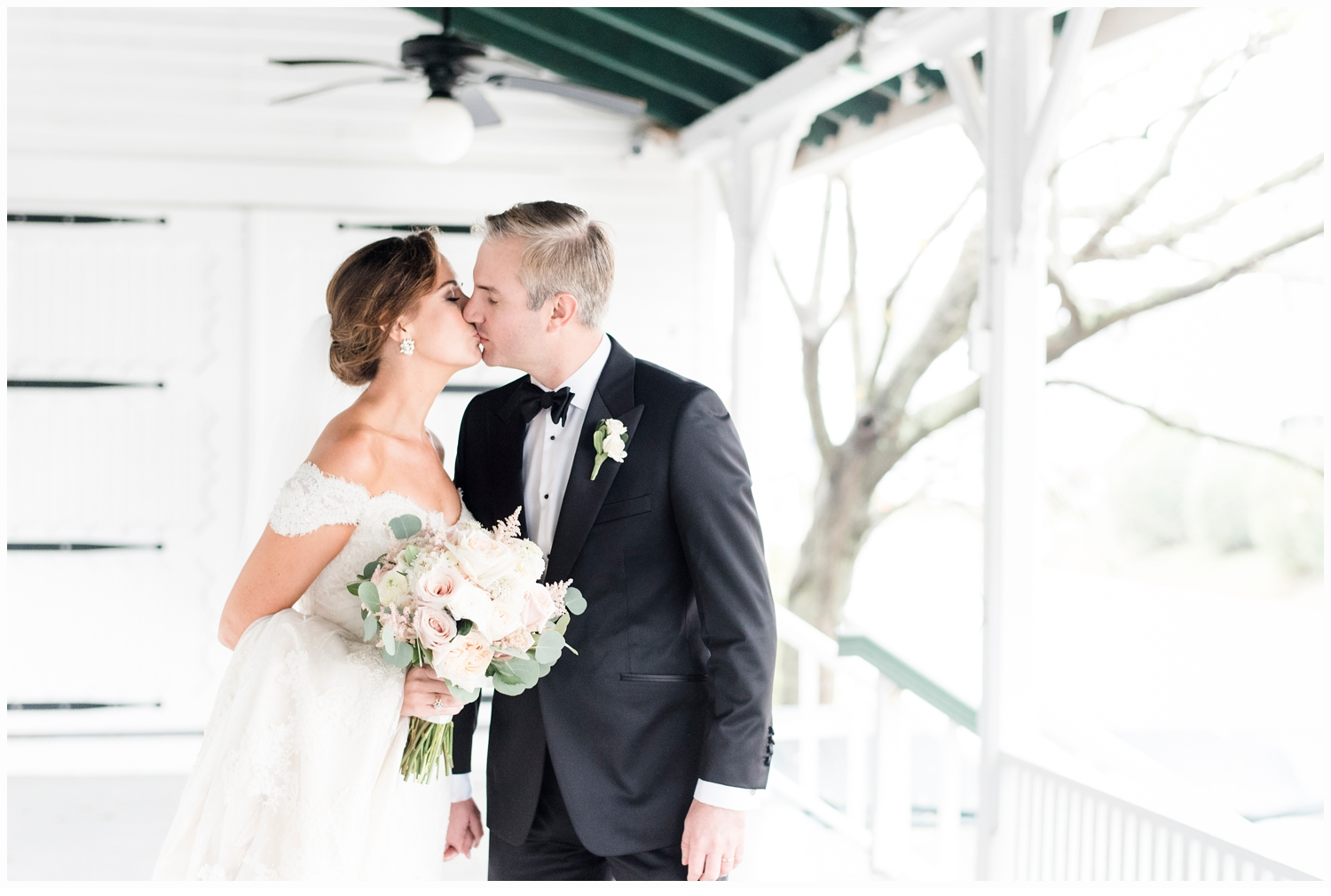 bride and groom wedding portrait at the parker house in spring lake nj