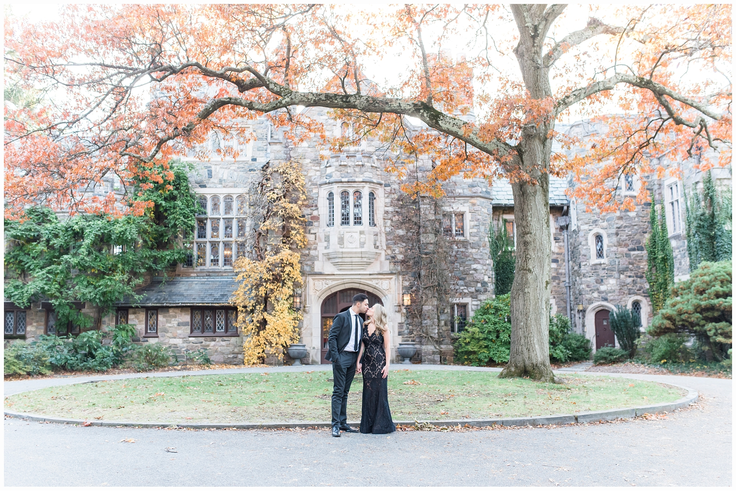 engaged couple at skylands manor