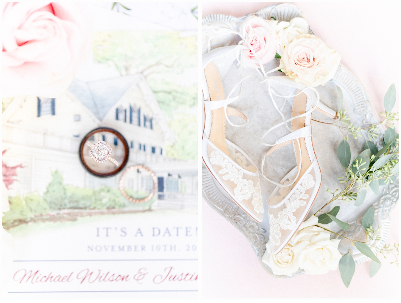 wedding invitation with wedding rings