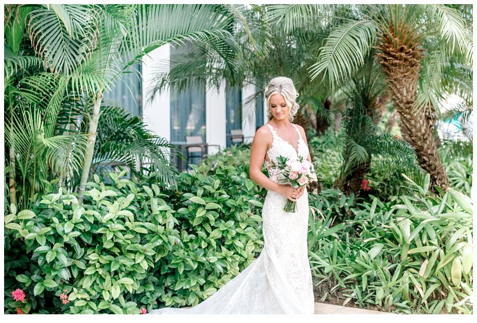 bridal portrait in a garden