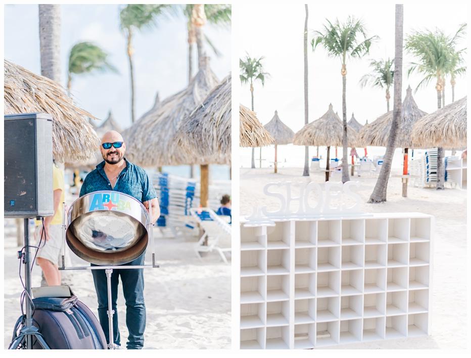 steel drum player on beach