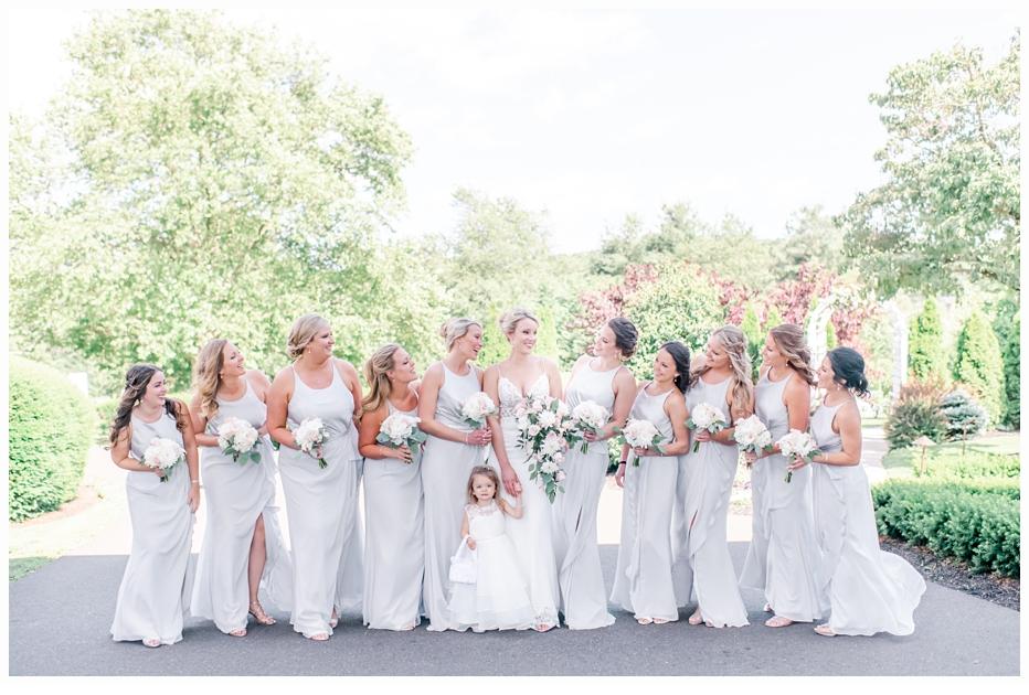 bride and bridesmaids formal portraits