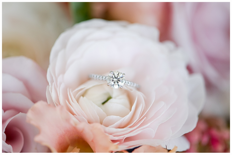 engagement ring in a flower