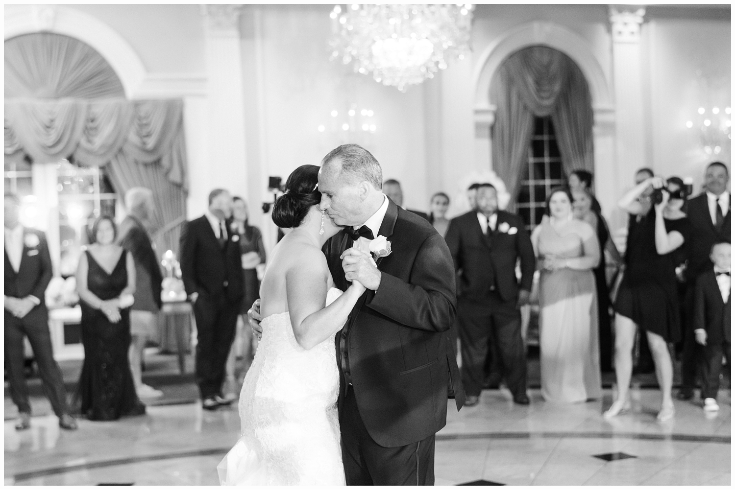 bride dancing with her father at wedding