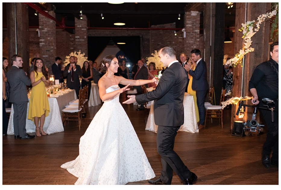 bride and groom first dance at their wedding