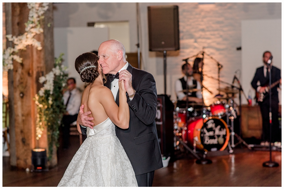 bride and dad first dance at her wedding