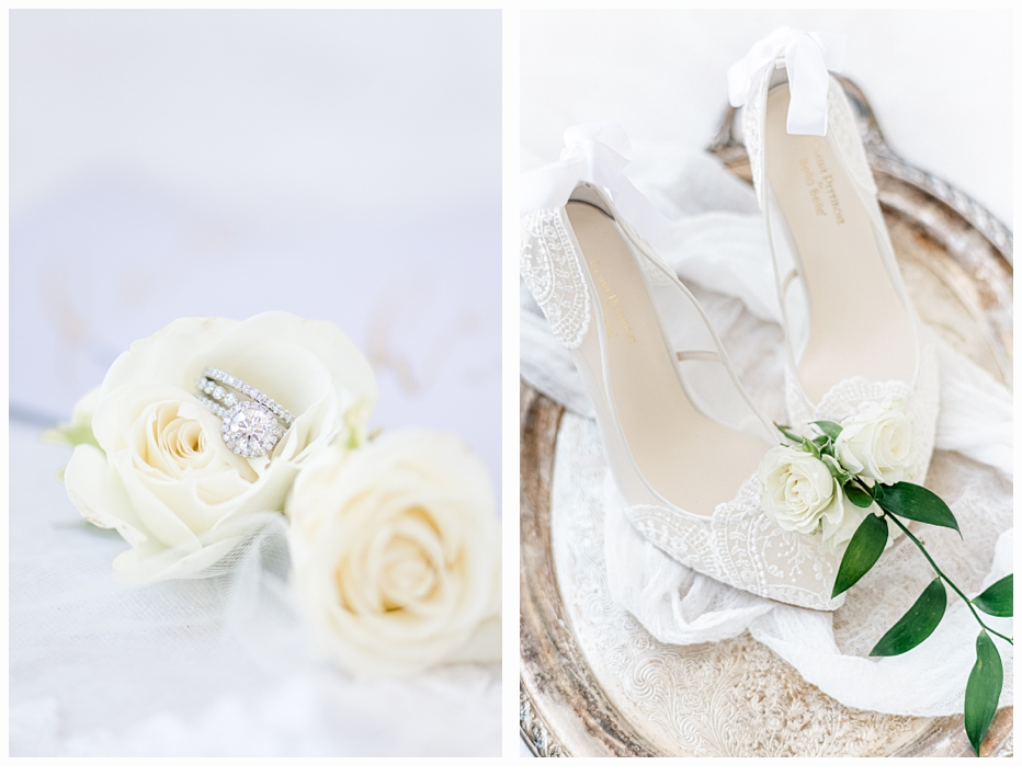 bellabelleweddingshoes on a silver tray