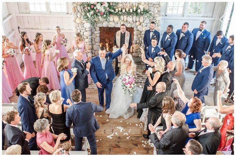 wedding ceremony at bonnet island estate